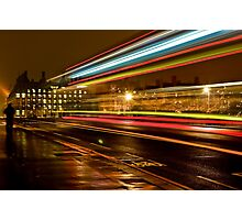 Westminster Night Bus Photographic Print