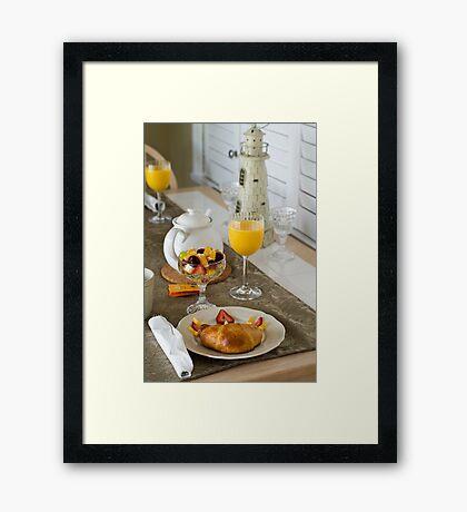 Breakfast is Served Framed Print