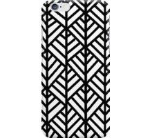 Lined Pattern Black iPhone Case/Skin