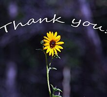 Thank You Card with a Sunny Flower by Corri Gryting Gutzman