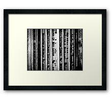 Mystery. Framed Print