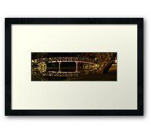 Nite Bridge reflection Framed Print
