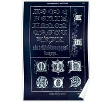 A Handbook Of Ornament With Three Hundred Plates Franz Sales Meyer 1896 0549 Ornamental Letters Gothic Uncial Inverted Poster
