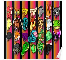 Hotline Miami Masks Poster