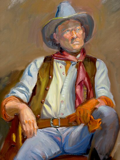 Cowboy at rest by Dominique Amendola by Dominique Amendola
