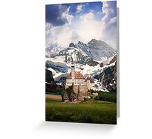Imaginary landscapes: The castle Greeting Card