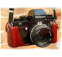 Nikon F3 HP In Leather Jacket Poster
