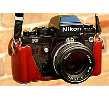 Nikon F3 HP In Leather Jacket Photographic Print