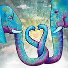 Elephants in Love by CarrieScribbles