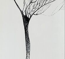 Tree-just doodling! in the negative by SallySwift