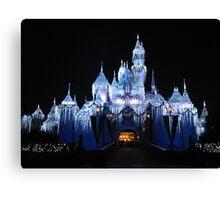 Disneyland's Sleeping Beauty Castle at Christmas Canvas Print