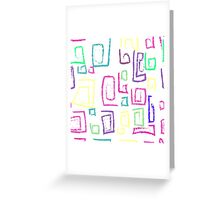 Summer graphic print Greeting Card