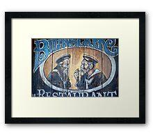 Bullwackers Restaurant of Monterey Framed Print