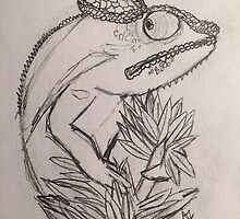 Panther Chameleon Sketch by LevyGeckos