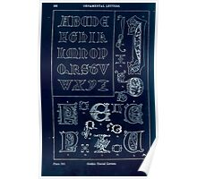 A Handbook Of Ornament With Three Hundred Plates Franz Sales Meyer 1896 0548 Ornamental Letters Gothic Uncial Inverted Poster