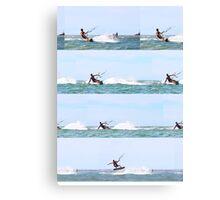 Kite boarding compilation Canvas Print