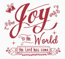 Joy to the World graphic by Jan Marvin Kids Tee
