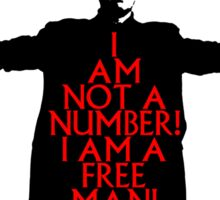 The Prisoner - I AM NOT A NUMBER! Sticker