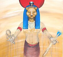 SEKHMET FIRE GODDESS by whittyart