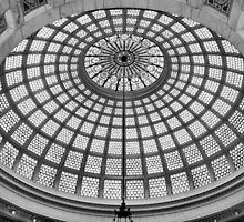 Chicago Cultural Center - Tiffany Glass Dome by Crystal Clyburn