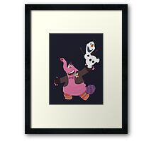 Bing Bong and Olaf together! (without rainbow and snowflakes) Framed Print