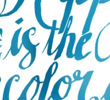 Happy is the Color of Summer Blue by Jan Marvin Sticker