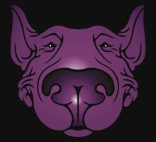 English Bull Terrier Head Graphic Pink and Purple Kids Clothes
