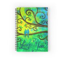 I love you hearts by Jan Marvin Spiral Notebook