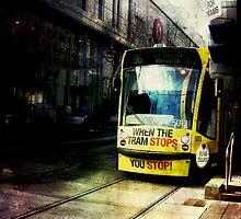 Tram to St Kilda Beach by Kate Caston
