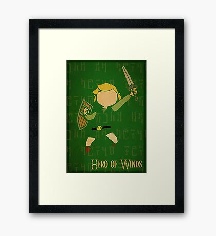 Hero of Winds Framed Print