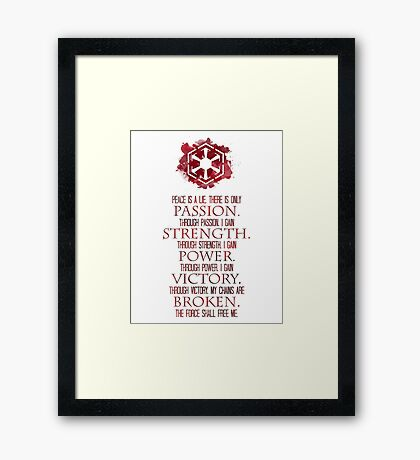 The Sith Code Framed Print