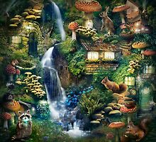 Mushroom Village by gingerkelly