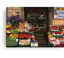 Village Market - Riomaggorie, Italy   Canvas Print