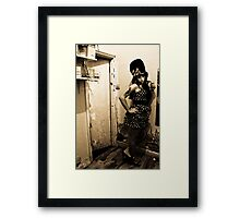 Andy Winehouse - The dressing room Framed Print