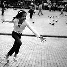 Chasing pigeons by Alexander Kok
