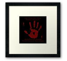 Skyrim - Black Sacrament Framed Print
