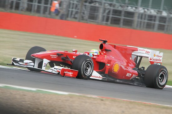 Felipe Massa - Ferrari F10 - Silverstone 2010 by MSport-Images
