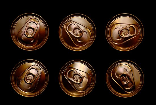 Golden aluminum drink cans by AlvaroGerman