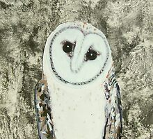 silver owl totem by donnamalone