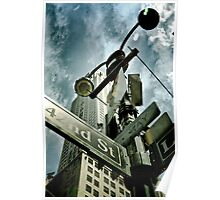 Empire state from below Poster