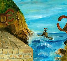 The comb of the wind, Chillida, San Sebastian - Spain by makrobius