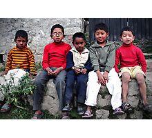 Mountain Boys- The Kids Of Manali Photographic Print