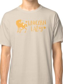 Unicorn Lady Classic T-Shirt