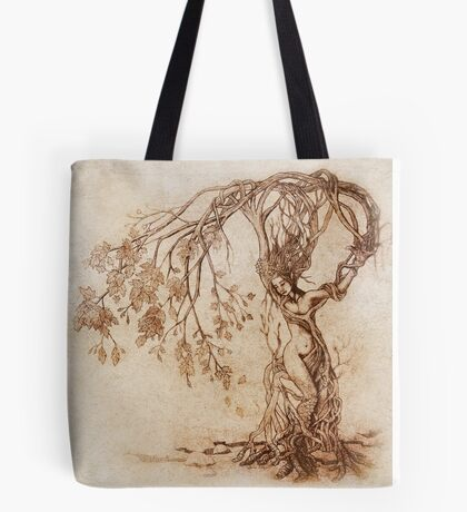 Hedge Witch, the Lady in the Tree Tote Bag