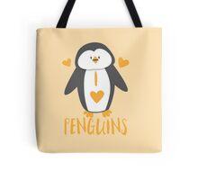 I love penguins super cute Tote Bag