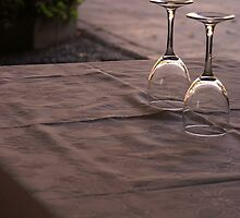 Wine Glasses Upside Down by sceneryphotosto