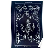 A Handbook Of Ornament With Three Hundred Plates Franz Sales Meyer 1896 0388 Metal Objects Candle Bracket Inverted Poster