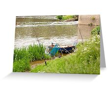 Fishing on the Ille et Vilaine in Brittany France Greeting Card