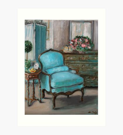 Turquoise Chair Art Print