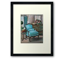 Turquoise Chair Framed Print